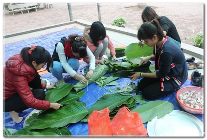 Giới trẻ học gói bánh chưng, Việt Nam