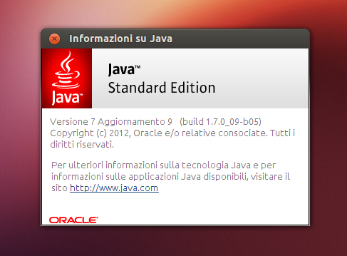 Oracle Java 7u9 su Ubuntu 12.10 Quantal