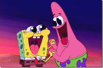 Spongebob and Patrick - congratulating