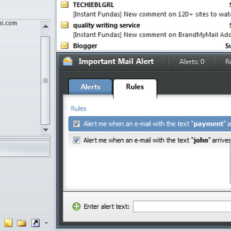 Keyword Based Notification for Important Email in Outlook