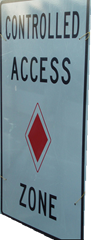 Controlled Access sign