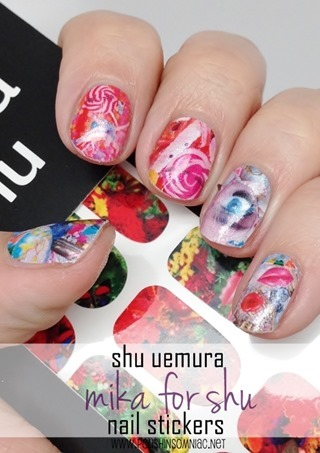 mika for shu uemura nail stickers in Melting Sweet Dream Curiosity