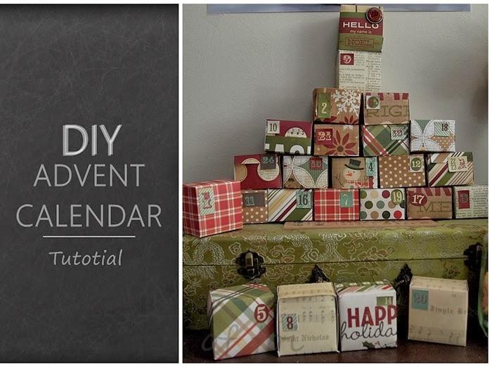 DIY advent calendar tutorial