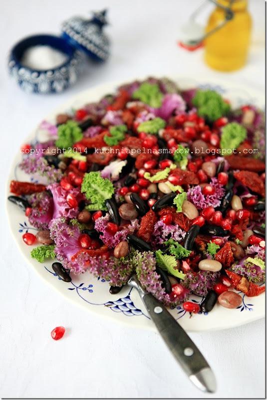 sałatka z kapusty ozdobnej, różowej, jadalnej (3)