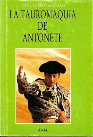 La Tauromaquia de Antoñete JC Arevalo Portada 001