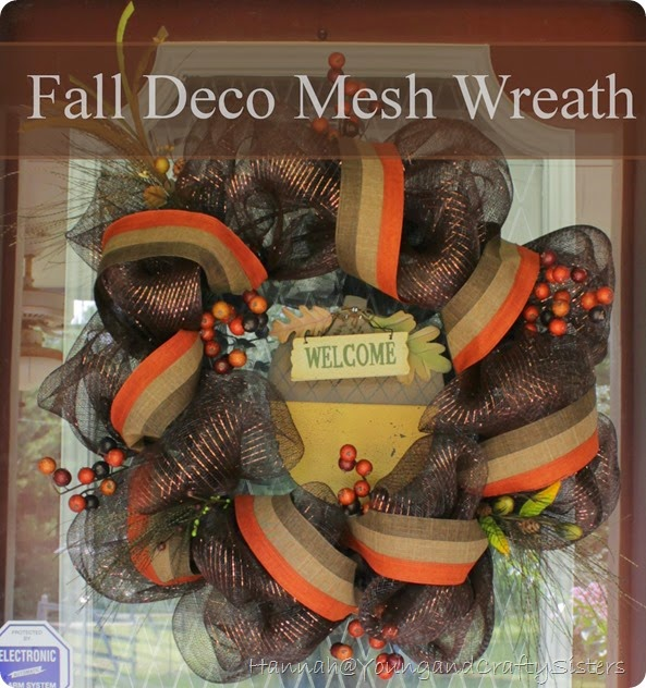 Fall deco mesh wreath 2