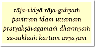 Bhagavad-gita, 9.2