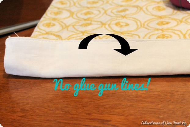 no sew pillowcase no glue gun lines