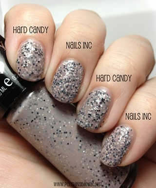 Hard Candy Cocoa Smore vs. Nails Inc Sugar House Lane