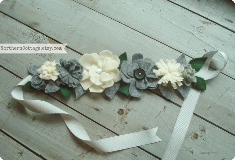 Felt Flower Crown Headband {NorthernCottage}