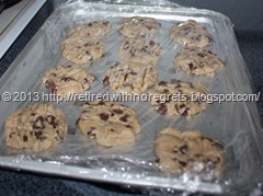Simple Gluten-Free Chocolate Chip Cookies - freezing