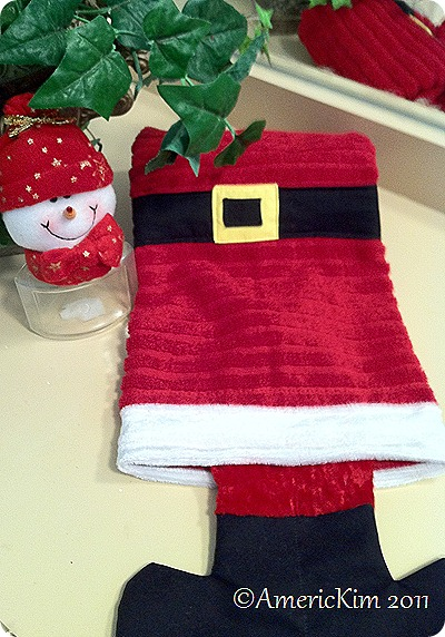 Santa's Boot Hand towel