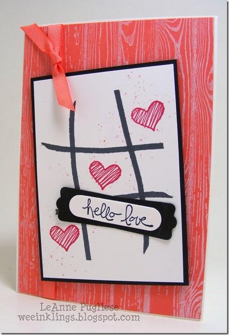 LeAnne Pugliese WeeInklings Tic Tac Toe Valentine Stampin Up