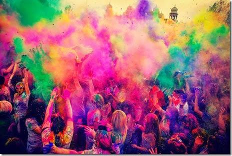 HOLI - poze festival culori