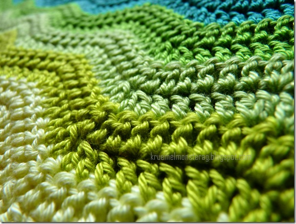 Ripple Blanket #2 Part 6 Hellgrün