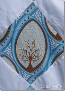 Pear Tree fabric in the Blue Diamond quilt