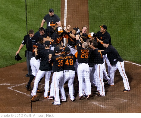 'Baltimore Orioles Walk-Off Win Celebration' photo (c) 2013, Keith Allison - license: http://creativecommons.org/licenses/by-sa/2.0/