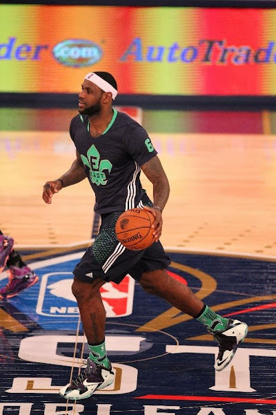 lebron james nba 140216 all star new orleans 32 game Gallery: LBJ Wears Gator King LeBron 11 in 2014 NBA All Star Game