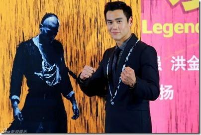 2014.06.12 Eddie Peng during Rise of the Legend - 彭于晏 黃飛鴻之英雄有夢 北京 - 揭幕国际版海报 01