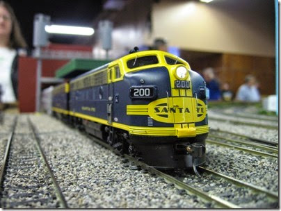 IMG_5397 Atchison, Topeka & Santa Fe F7A #200 on the LK&R HO-Scale Layout at the WGH Show in Portland, OR on February 17, 2007