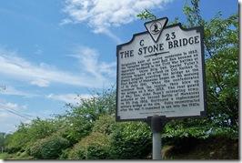 The Stone Bridge, Marker No. C-23 at county line