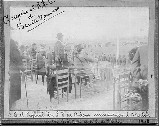 Palco del Hipodromo de Tablada 1909