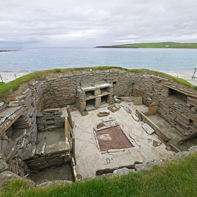 Skara Brae Prehistoric Village in Scotland