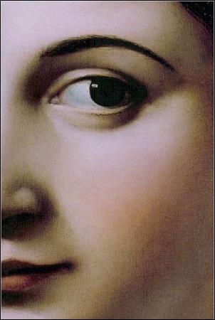 Détail de la Fornarina de Raphael