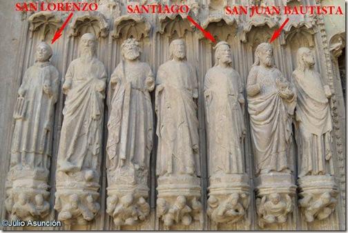 Santos de la portada de la Catedral de Huesca