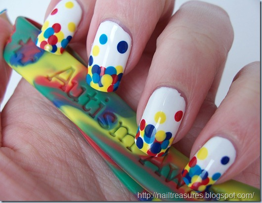 Nail treasures autism awareness gumball nails 1022508 prinsesfo Images