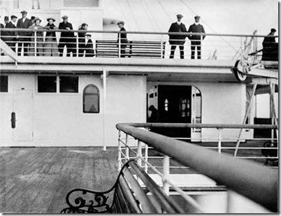 Titanic Verandah, Second Class deck above.