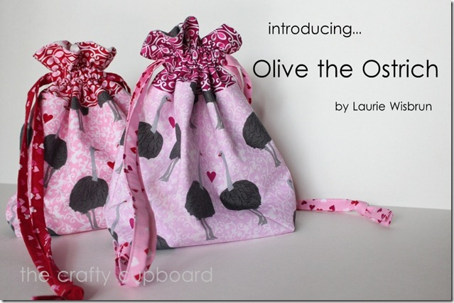 Olive the Ostrich Fabric