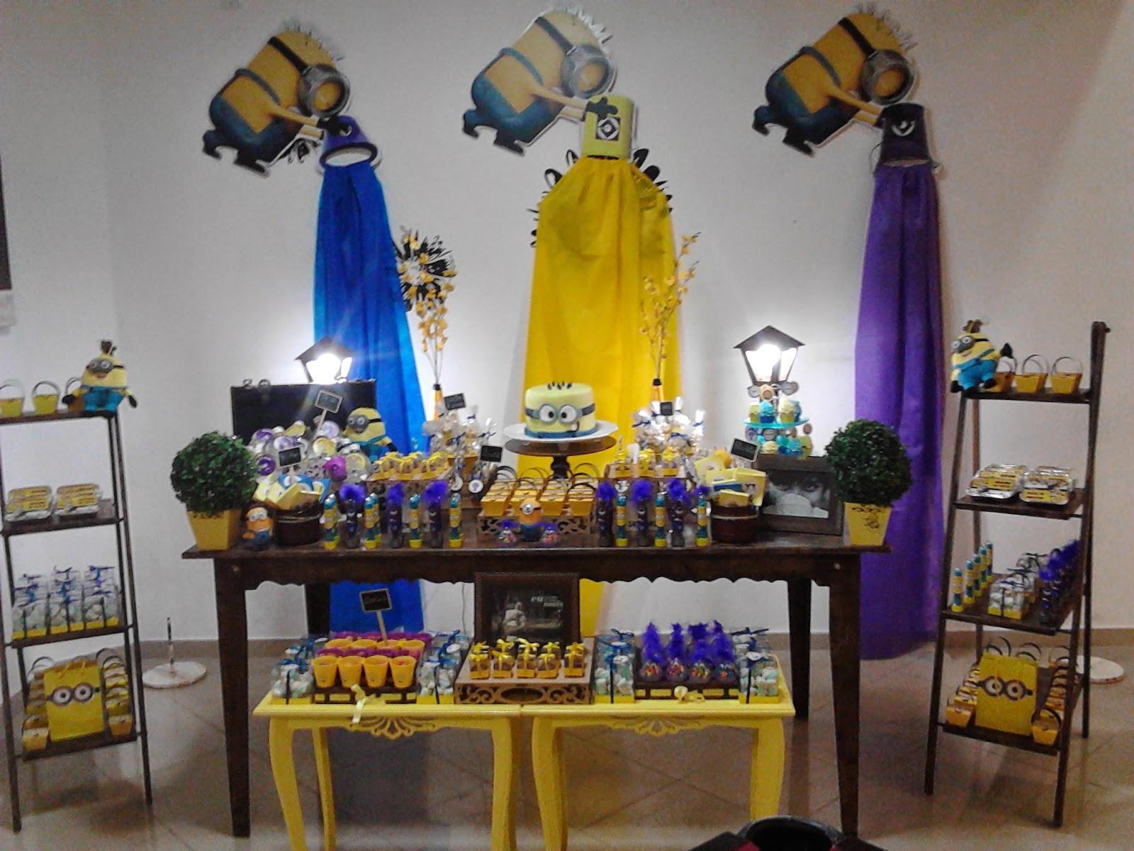 decoracao festa minions : decoracao festa minions:Minions Decoracao Rustica