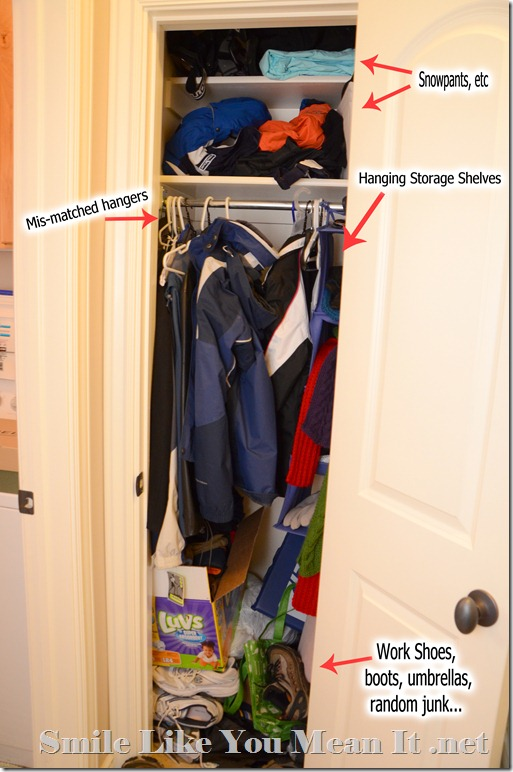 Coat Closet Before Picture explaination