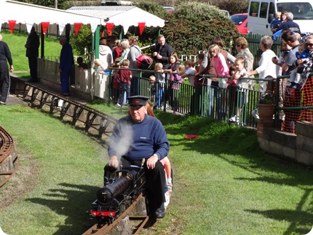 Model steam train ride (2)