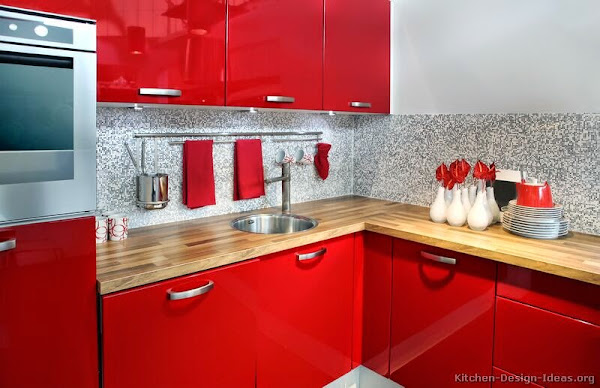 Kitchen Cabinets Modern Red 021 S19602868 Small Sink Red Kitchen Cabinets