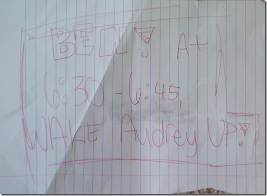 Audrey's Note