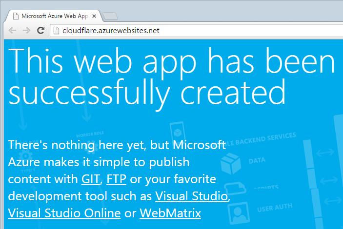 The new website running on cloudflare.azurewebsites.net