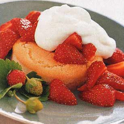 Strawberry Shortcakes with Vanilla-Orange Syrup