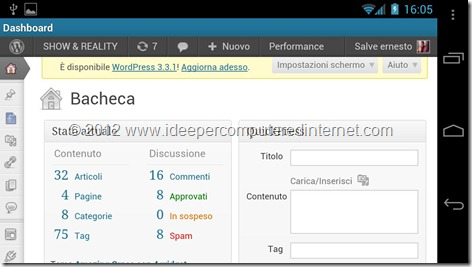 bacheca-applicazione-wordpress