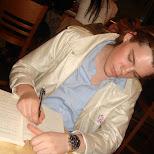 ludvig studying hard in Shinjuku, Tokyo, Japan