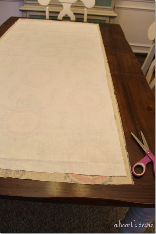 Muslin Fabric on top
