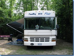 7121 Restoule Provincial Park - Kettle Point Campground - our motorhome in our campsite # 404