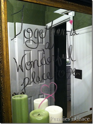 Bathroom Mirror Love Notes pennies n grace: love notes---mirror style