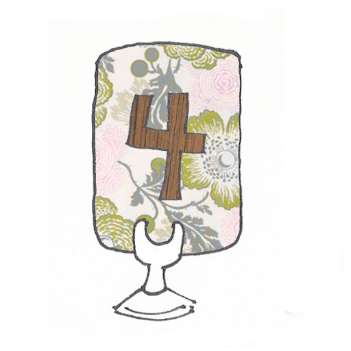 A sketch of Kelly's idea for the table numbers, with the wood showing through in the cut outs of each number.