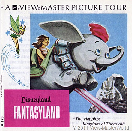 View-Master Fantasyland (A178), Booklet Cover