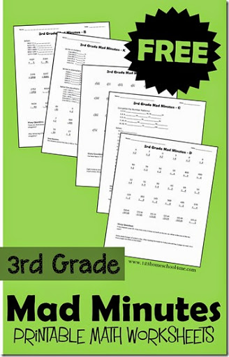 math worksheet : 3rd grade math worksheets : Math Worksheets For 3rd Grade