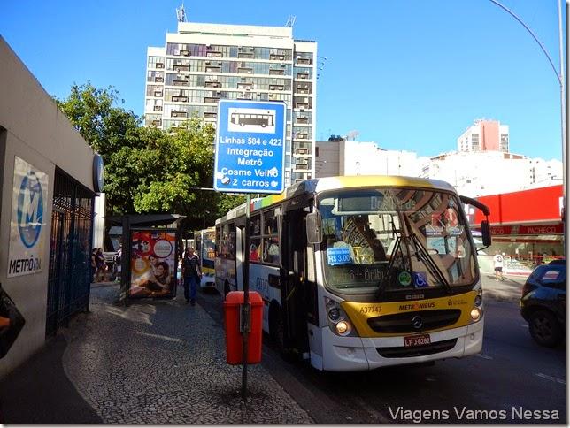 Ônibus circular 580, integração com o metrô na Estação Largo do Machado