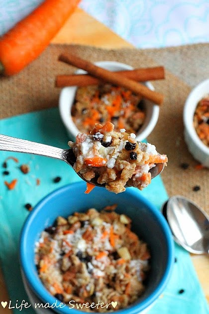 Coconut Carrot Cake Oatmeal - Life made Sweeter 4.jpg