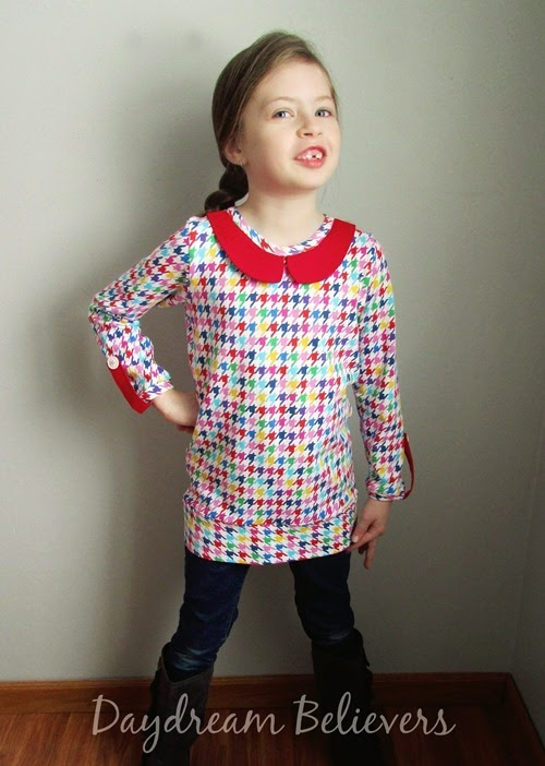 Daydream Believers Designs for Little Lizard King. The Perfect Ten Top Blog Tour. Beautiful handcrafted knit top with peter pan collar; timeless, stylish and oh so sweet!
